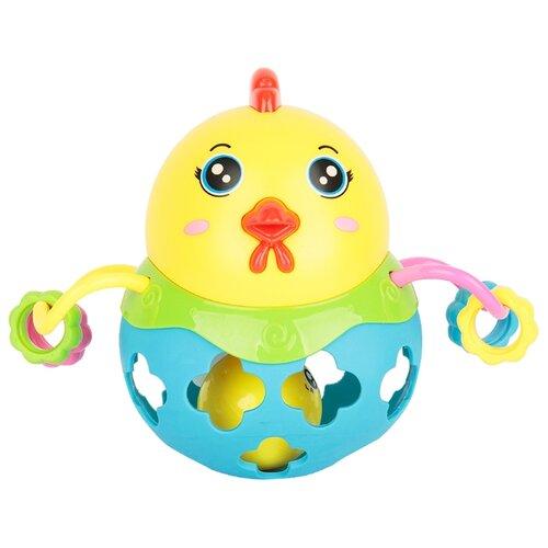 Купить Погремушка Игруша Цыпленок желтый/зеленый/голубой, Погремушки и прорезыватели