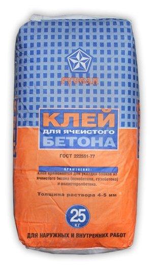 Строительная смесь Русеан Для ячеистого бетона