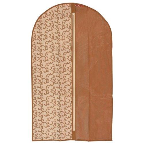 HAUSMANN Чехол для одежды AC005-2/4P-301 60x100 см коричневый с вензелямиЧехлы для одежды<br>