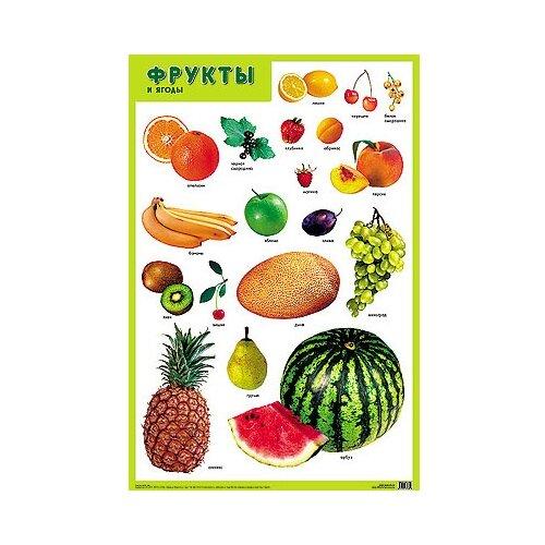 Купить Плакат Мозаика-Синтез Фрукты и ягоды, Обучающие плакаты