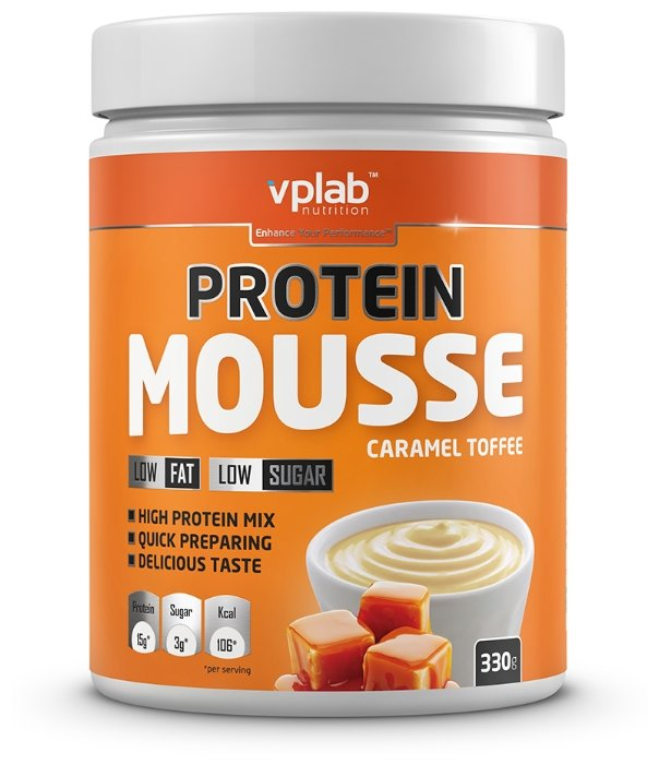 Vplab мусс Protein Mousse 330 г карамель