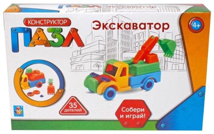 Конструктор 1 TOY Пазл Т59944 Экскаватор