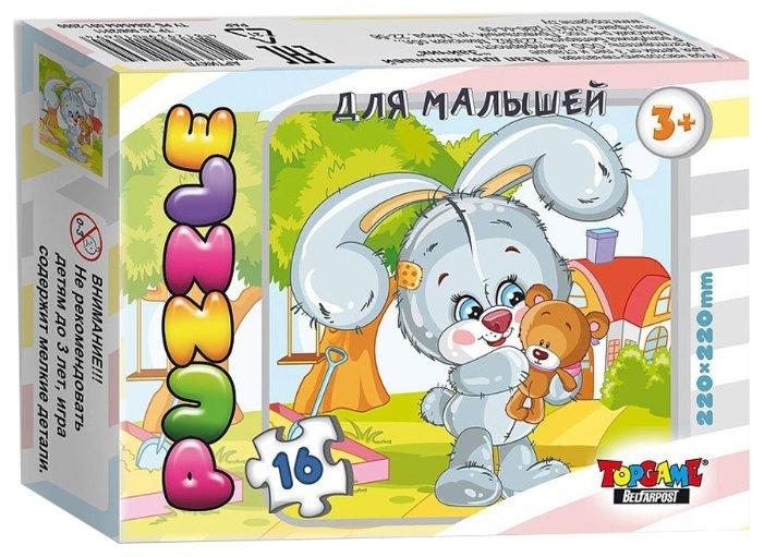 Пазл TopGame Зайчик Пушистик (01119/ББ18429), 16 дет.