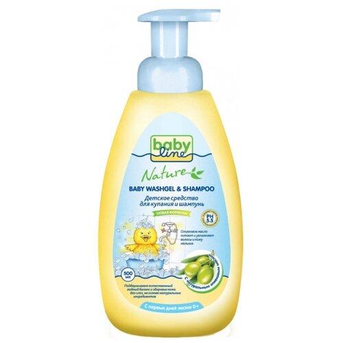 Купить BabyLine Nature Средство для купания и шампунь с оливковым маслом 500 мл, Средства для купания