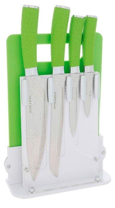 Набор MAYER & BOCH 4 ножа и разделочная доска с подставкой 24136 / 24137 / 24138