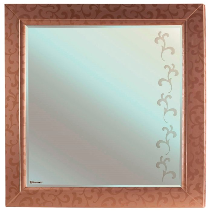 Зеркало Bellezza Маргарита 85х88см бронза в раме