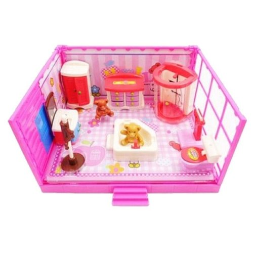 Купить Игровой набор ABtoys Счастливые друзья - Ванная комната PT-00910, Игровые наборы и фигурки