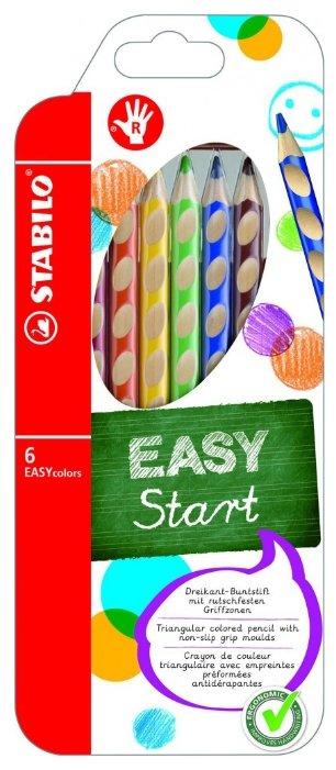 STABILO Цветные карандаши EASY colors 6 цветов (332/6)