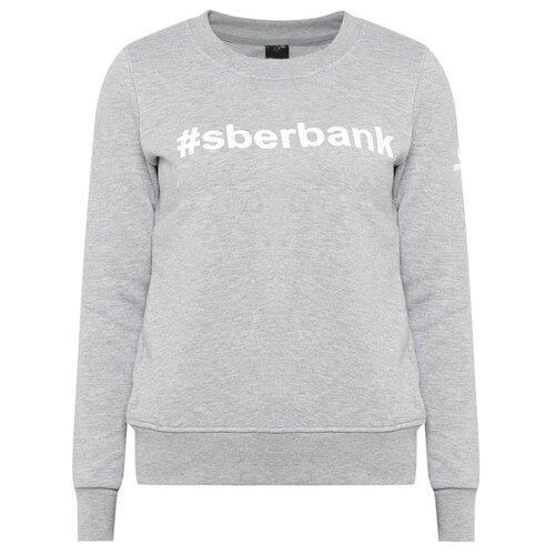 Свитшот #sberbank женский размер 44, серый меланжОдежда и аксессуары<br>