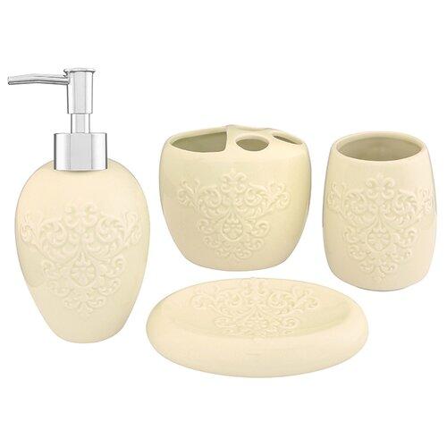 Набор для ванной Elan gallery 4 предмета для ванной молочный