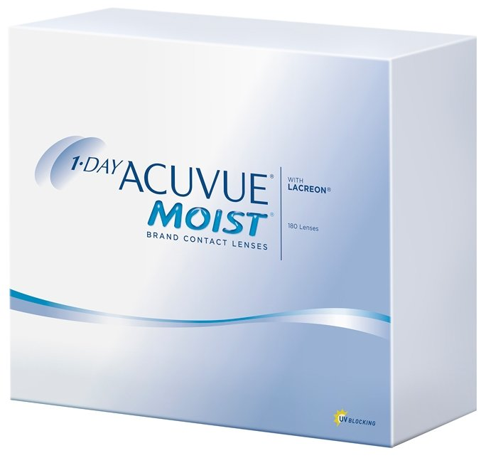 Контактные линзы Johnson & Johnson 1-Day Acuvue Moist (180 линз / 8.5 / -3)