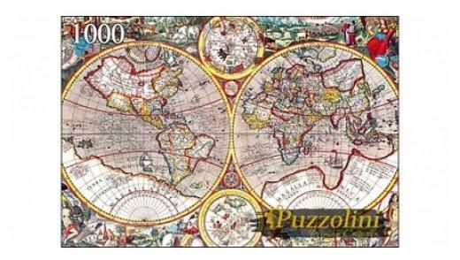 Пазл Рыжий кот Puzzolini Древняя карта мира (KBPZ1000-7748), 1000 дет.