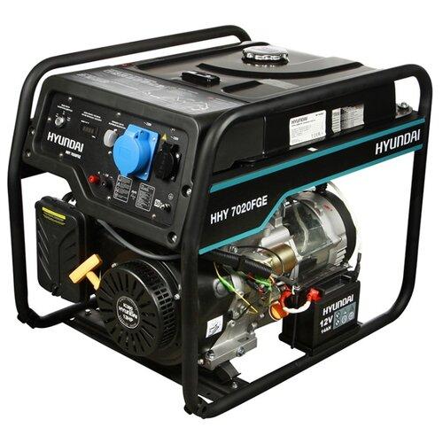 Газо-бензиновый генератор Hyundai HHY 7020FGE (5000 Вт) бензиновый генератор hyundai hhy 7020fe 5000 вт