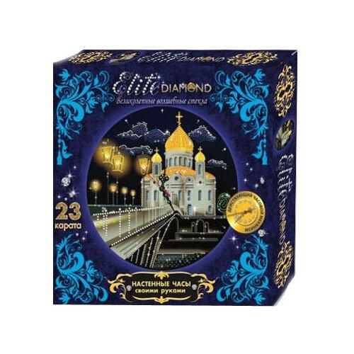 Купить Лапландия Набор алмазной вышивки с часовым механизмом Набор для творчества Elite Diamond Собор (45788) 37.5х25.5 см, Алмазная вышивка