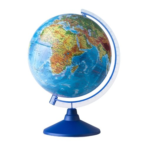 Фото - Глобус физический Globen Классик Евро 250 мм (Ке012500186) синий globen глобус земли globen физический с подсветкой 150 мм