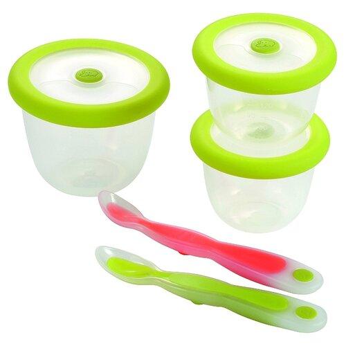Набор контейнеров Bebe confort 7 предметов салатовый