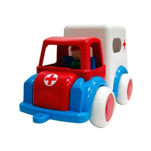 Купить Машинка Форма Детский сад (С-61-Ф) 27.5 см белый/синий/красный, Машинки и техника