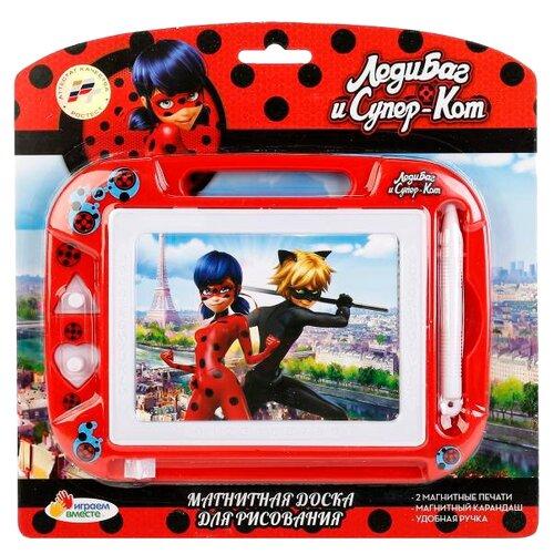 Купить Доска для рисования детская Играем вместе Леди Баг и Супер-Кот (HS8006KLB) красный, Доски и мольберты