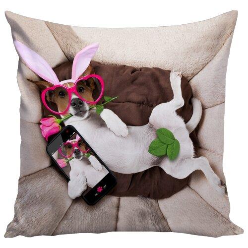 Подушка декоративная Marca Marco Milano 151, 45 x 45 см бежевый/белый/коричневыйДекоративные подушки<br>