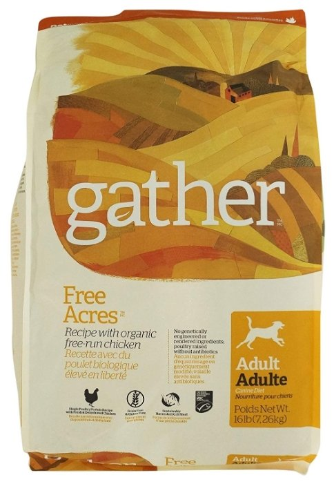 Корм для собак Gather (7.26 кг) Free Acres