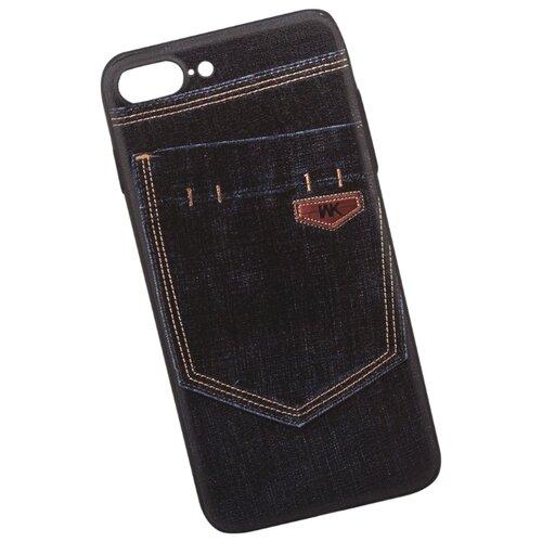 Чехол WK WK108 для Apple iPhone 7 Plus/iPhone 8 Plus темно-синий джинсы чехол wk letou для iphone xs 0l 00039966 серый