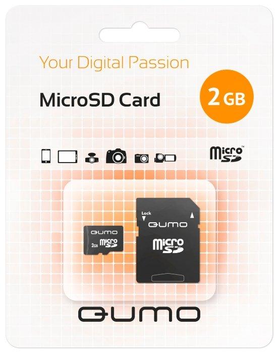 Карта памяти Qumo MicroSD 2Gb + SD adapter