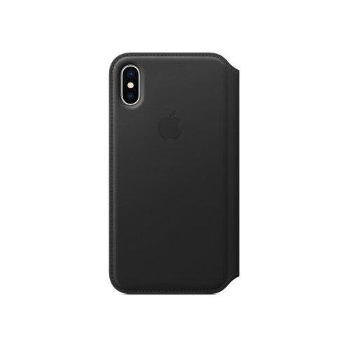 Чехол Apple Folio кожаный для Apple iPhone X black apple leather folio чехол для iphone x taupe