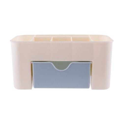 HOMSU Органайзер настольный для косметики Homsu, голубой бежевый/голубой коробка для хранения homsu
