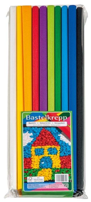 Цветная бумага крепированная в рулоне Ассорти Werola, 50х200 см, 10 л., 10 цв.