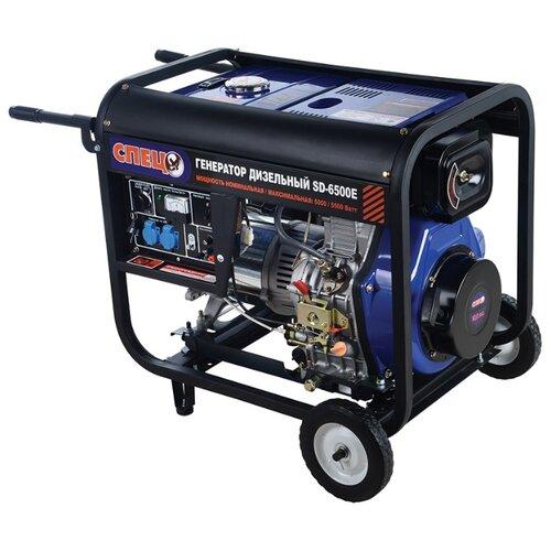 Дизельный генератор СПЕЦ SD-6500E (5000 Вт) дизельный генератор hyundai dhy 6000 se 3 5000 вт