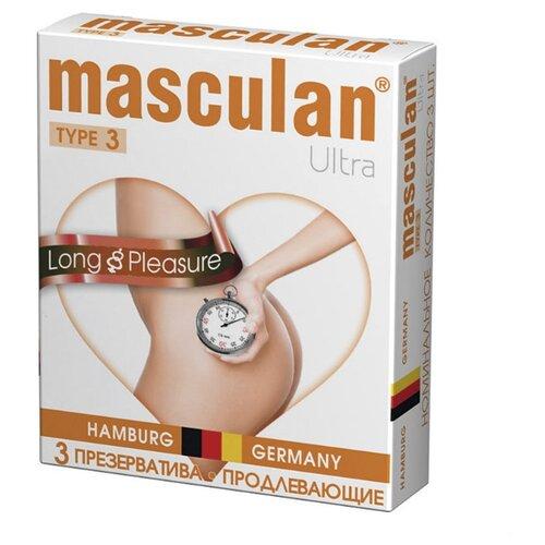 Презервативы masculan Ultra Long Pleasure (3 шт.) презервативы my size 60 193 36 шт