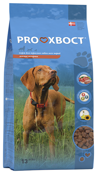 Корм для собак PROхвост (13 кг) Сухой корм Мясное ассорти
