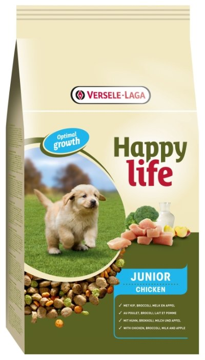 Корм для собак Happy life Junior with Chicken