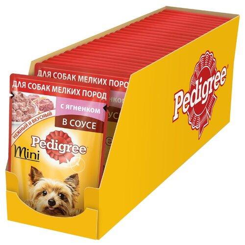 Корм для собак Pedigree (0.085 кг) 24 шт. Для взрослых собак мелких пород с ягненком в соусеКорма для собак<br>