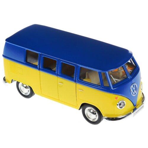Купить Микроавтобус RMZ City Volkswagen T1 Transporter (554025M) 1:32 синий с желтым, Машинки и техника