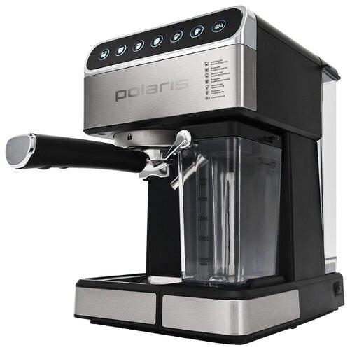Кофеварка рожковая Polaris PCM 1535E Adore Cappuccino нержавеющая сталь