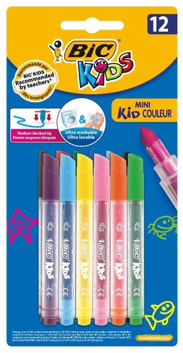 BIC Набор фломастеров Mini Kid Couleur (8374903), 12 шт.