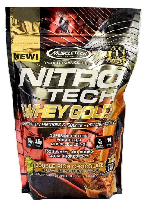 Протеин MuscleTech Nitro Tech 100% Whey Gold (454 г)