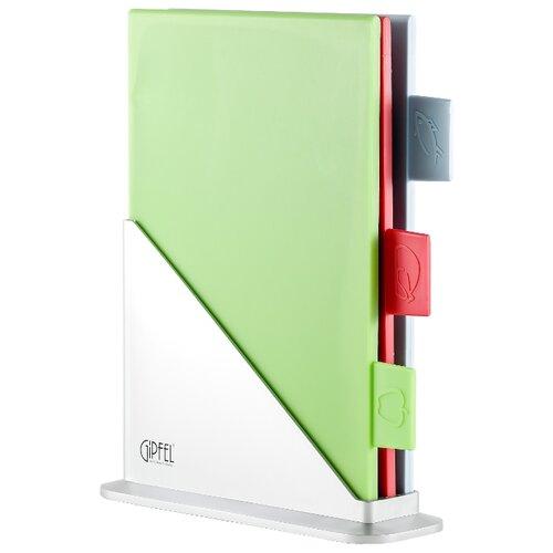 Набор разделочных досок GIPFEL 3124 BRIGHT 30.5x25 см (3 шт.) зеленый/красный/голубой набор из 3 гибких разделочных досок 42х33 см 36х26 см 28х20 см fissman 8001