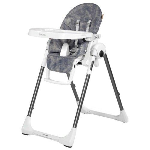 Купить Стульчик-шезлонг Peg-Perego Prima Pappa Zero-3 ПВХ denim, Стульчики для кормления