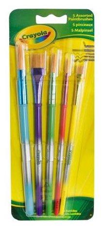 Набор кистей Crayola щетина, короткая ручка, 5 шт. (3007)