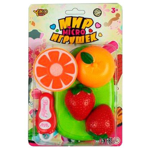 Купить Набор продуктов с посудой Yako Мир micro Игрушек Д88713 разноцветный, Игрушечная еда и посуда