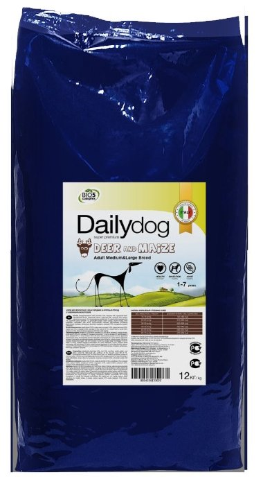 Корм для собак Dailydog Adult Medium and Large Breed Deer and Maize