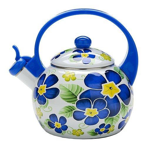 MAYER & BOCH Чайник 23863 2,2 л синий/белый mayer boch чайник электрический 1 8л 1500вт zm 10967