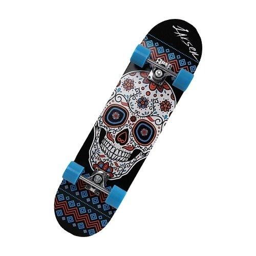 Скейтборд Larsen Big Street черный/череп цена 2017