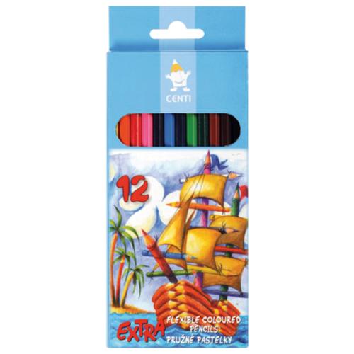Купить KOH-I-NOOR Карандаши цветные Centi 12 цветов, особо гибкие (2162/12), Цветные карандаши