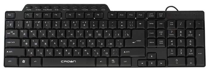 Клавиатура и мышь CROWN MICRO CMMK-520B Black USB