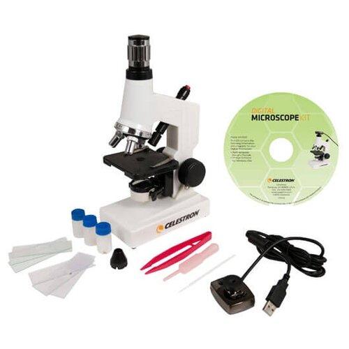 Микроскоп Celestron 44320 белый цифровой микроскоп celestron pro 44308