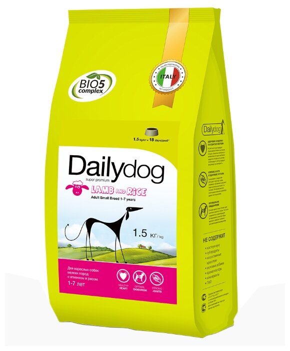 Корм для собак Dailydog Adult Mini Breed lamb and rice
