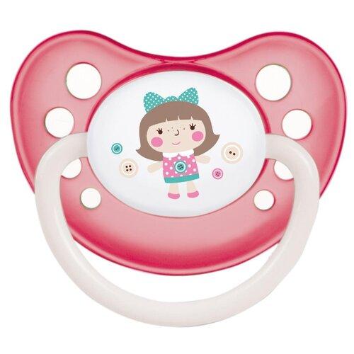 Купить Пустышка силиконовая анатомическая Canpol Babies Toys 0-6 м (1 шт) розовый, Пустышки и аксессуары